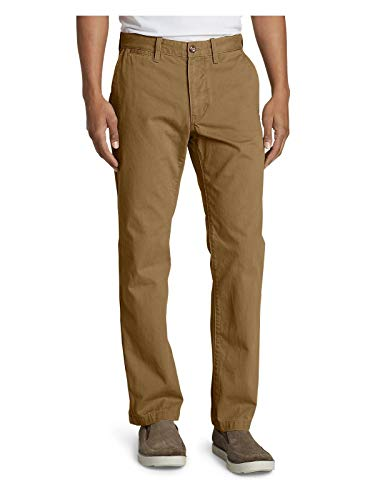 Eddie Bauer Men's Legend Wash Chino Pants - Classic Fit, Aged Brass Regular  40/30 Regular Aged Brass (Brown)