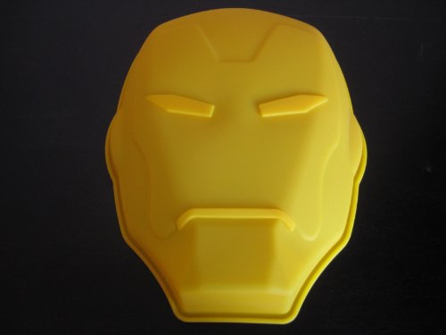 Iron Face Man Mask Silicone Birthday Cake Pan Candy Mold Party Supplies
