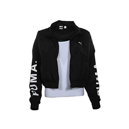 PUMA Women's Chase Woven Jacket, Black, - Puma Jacket Woven Womens