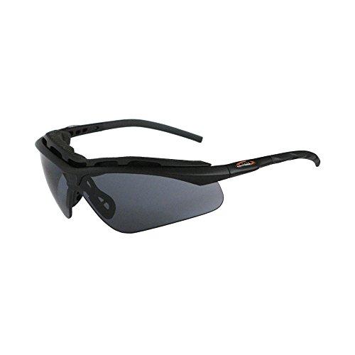 Survival Optics Sunglasses Intruder Matte Black W/PC Smoke/Yellow/Clear 2.4MM (Intruder Sunglasses)