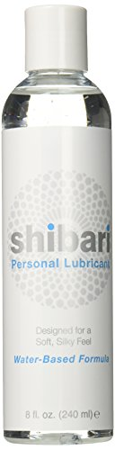 Shibari Personal Lubricant - Water Based 8oz Bottle (Best Lubricant For Dildo)