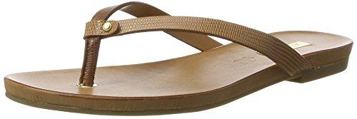 ALDO Damen Tricia Offene Sandalen mit Keilabsatz Braun (26 Medium Brown)