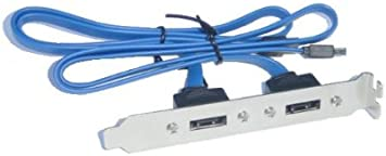 2 Port SATA Cable to eSATA Adapter Bracket