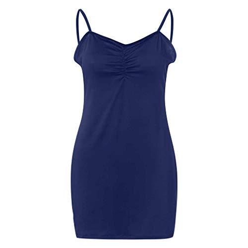 Felz scuro T aderente party maniche Sexy Abito senza donna personalizzate da unita donna blu tinta shirt da di Abito con tvwHxSIqpc