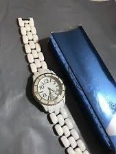 Avon Bands - Avon Sporty Ladies Link Watch - White - New - 7-3/4