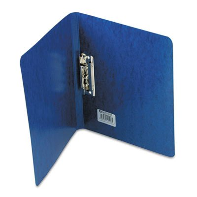 PRESSTEX Grip Punchless Binder With Spring-Action Clamp, 5/8'' Cap, Dark Blue, Total 25 EA