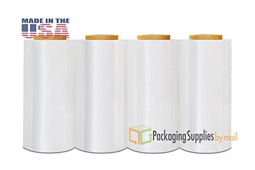 40 Rolls Cast Hand Clear Stretch Wrap Long Film 12 inch x 1500' x 80 Gauge by PackagingSuppliesByMail