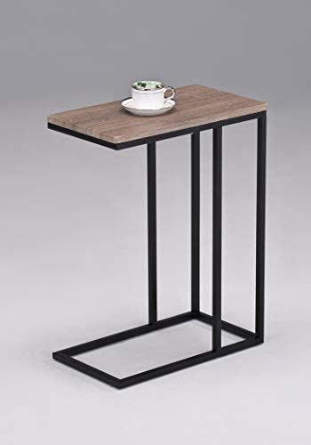 Reclaimed Wood Look Finish Snack Side End Table