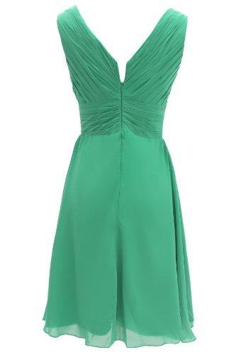 Dressystar Short Bridesmaid Dress Chiffon Party Evening Dress Coral Size 16W