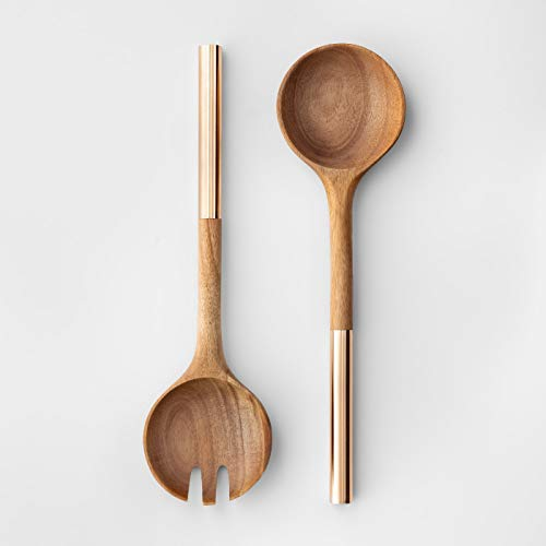 (Cravings by Chrissy Teigen 2pc Acacia Wood Salad Serving Set)