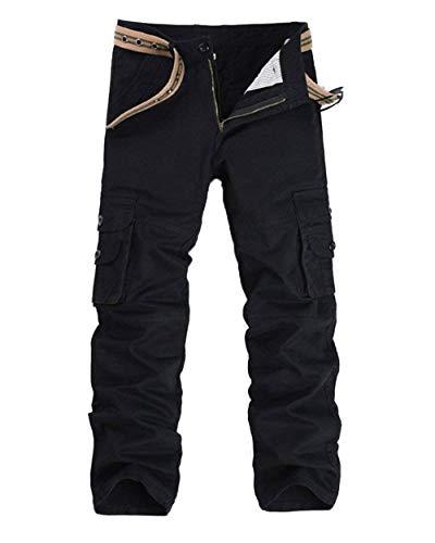 En Noir Air Poches Unies Sportives Tailles Cargo Homme Mode Hx Détendu Avec Vêtements Couleurs Long Automne Pants Loisir Confortables Armée Printemps Plein qCPZS