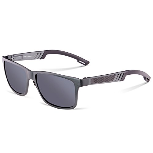 Lens Gray Body - Duco Men's Sports Style Polarized Sunglasses Driver Glasses 2217 Gunmetal Frame Gray Lens