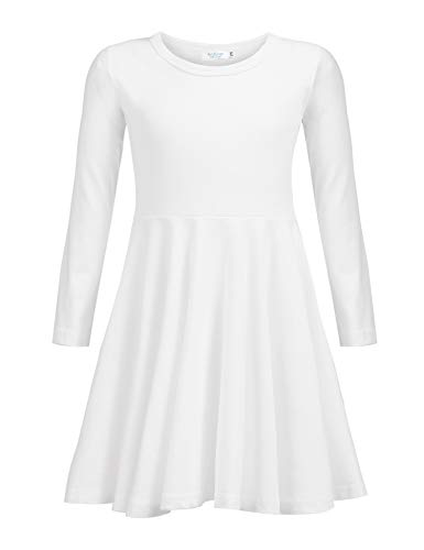 As A Girl For Halloween (Arshiner Girls Short Sleeve Dress A line Twirly Skater Casual Dress 2-12)