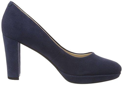 Clarks Women's Kendra Sienna Closed-Toe Pumps Blue (Navy Suede) XbuSaF6vav
