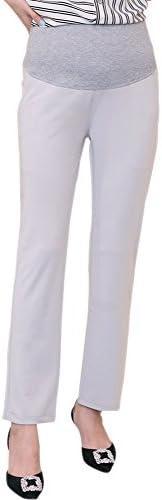 ZEVONDA Womens Pregnancy Pants Over Bump Work Maternity Trousers