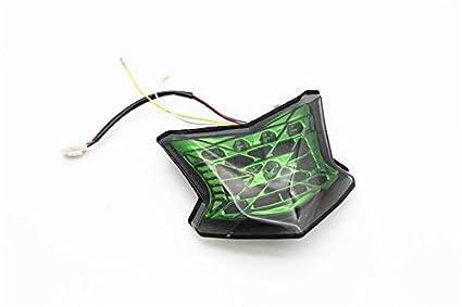 luces intermitentes para Kawasaki Z900 2018-2019 Ocamo luces LED traseras de freno para motocicleta integradas