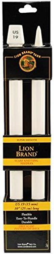Lion Brand Yarn 400-5-1901 Scarf Knitting Needles, Size 19, -