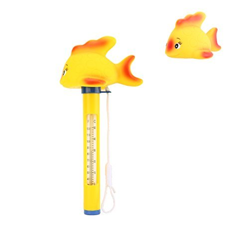 Housolution Floating Pool Thermometer, SPA Swimming Pool Thermometer, Baby Pool Cartoon Water Thermometer, Yellow Duck