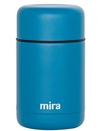 (MIRA 25 oz Lunch, Food Jar, Vacuum Insulated Stainless Steel Lunch Thermos, Hawaiian Blue)