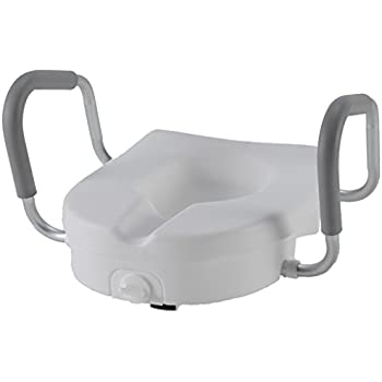 Amazon Com Pcp Raised Toilet Seat And Safety Frame Two