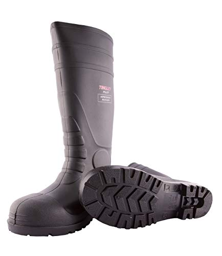 Tingley 31251.08 Pilot 15-in Cleated Steel Toe Knee Boot, Size 8, Black