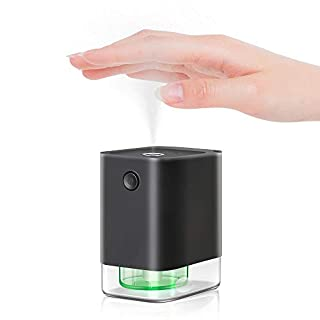 Alcohol Spray Automatic Touchless Premium Portable Hand Sanitizer Dispenser Infrared Sensor Upgraded Leakproof 360-Degrees Spraying Ultra Fine Mist Rechargeable Battery for Comercial Restaurant Home