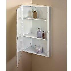 Jensen 860P36CH Corner Medicine Cabinet, 16-Inch by 36-Inch, Stainless Steel