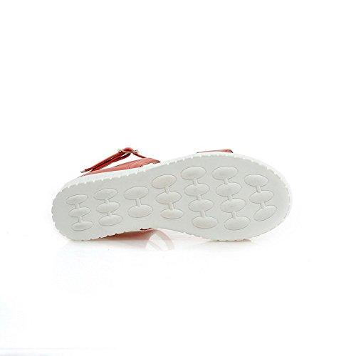 Adee Girls School Cross-Body-Strap Polyurethane Sandals Orange WW7ttfRlry