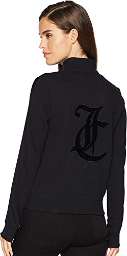 Juicy Zip Couture (Juicy Couture Women's Track French Terry JC Elevate Fairfax Jacket Pitch Black X-Large)