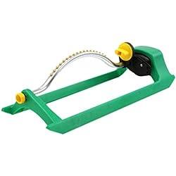 Iuhan Lawn Sprinkler- Water Garden Sprinkler- Oscillating Lawn Sprinkler Watering Garden Pipe Hose Water Flow With Connector (Green)