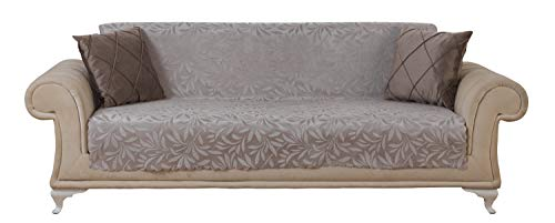 Chiara Rose Couch Covers for Dogs Sofa Cushion Slipcover 3 Seater Furniture Protectors Futon Cover, Sofa, Acacia Light Taupe