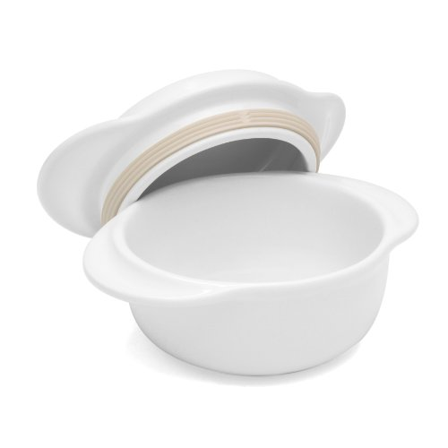 Chantal 93-MT15 WT Make and Take Round 3-Cup Casserole with Lid, Glossy White