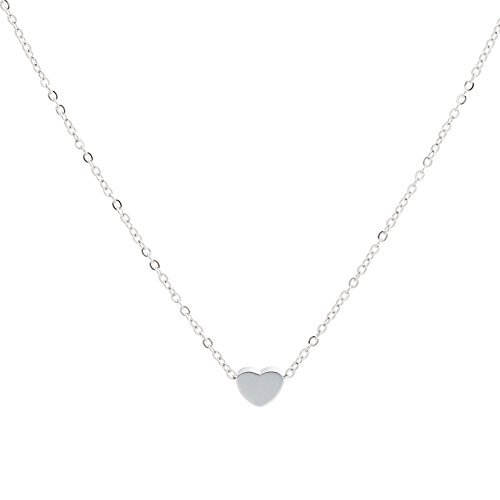 Jude Jewelers Stainless Steel Sliding Float Heart Shaped Charm Necklace (Single -