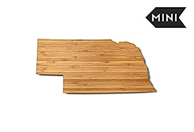 AHeirloom: The Original State Shaped Serving & Cutting Board. (As Seen in O Magazine, Good Morning America, Real Simple, Brides, Knot.) Made in the USA from Organic Bamboo, Mini