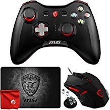 MSI FORCE GC30 Wireless Rechargeable Dual Vibration Gaming Controller for PC, Android and Sony PlayStation 4 with GS B1 Mouse and Shield Mousepad