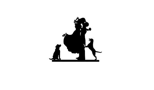 Tinksky Parejas románticas con perros estilo Cake Topper boda aniversario fiesta de la torta (negro): Amazon.es ...