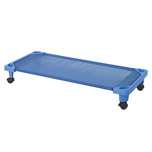 ECR4Kids Streamline Children's Naptime Cot with Wheels, Stackable Daycare Sleeping Cot for Kids, 52
