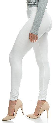 Lush Moda Extra Soft Leggings - Variety of Colors - White One Size -