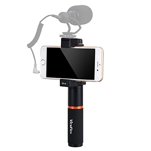 Viewflex Smartphone Video Kit VF-H2 Hand Grip with Width Adjustable Phone Clamp foriPhone X/Xs max/8Plus/7/6 Samsung Galaxy S9/S9+/S8+/S8 Note 9/8 Huawei etc.(Handle Grip+Phone Clamp)