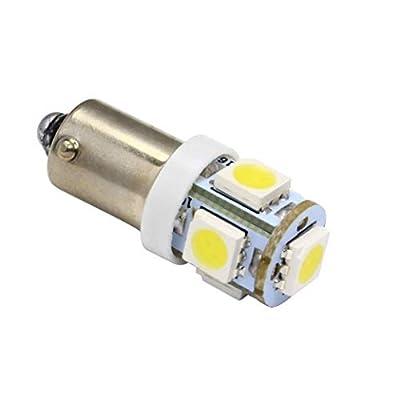 JKLcom BA9S LED Light Bulbs White 5050 5SMD BA9S 12V LED Light Bulb for Car Interior Light Bulb License Plate Light Bulb Car Replacement Lights Door Light,Pack of 20: Home Improvement