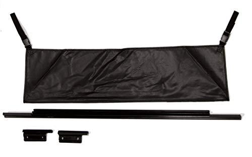 RAMPAGE PRODUCTS 77015 Rear Tailgate Tonneau Bar Kit for 1987-2006 Jeep Wrangler YJ & TJ, Black