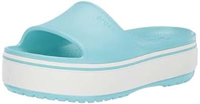 Crocs Womens Unisex-Adult Crocband Platform Slide Blue Size: 5 M US Women / 3 M US Men