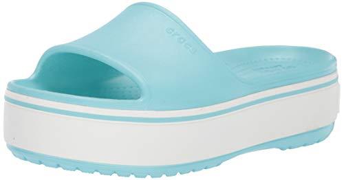 Crocs Crocband Platform Slide Sandal, ice Blue, 6 US Men/ 8 US Women M US