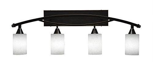 Toltec Lighting Bow 4 Light Bath Bar, 4