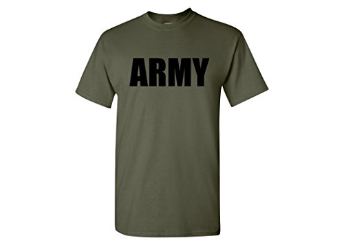 Pt Physical Training Shirt (Rogue River Tactical Military Green US Army PT T-Shirt United States Army Tee (L))