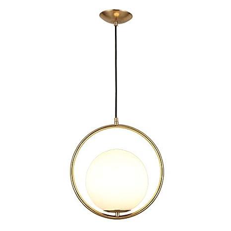 meet 9323c c86ca JinYuZe Round Pendant Light,Gold/Black 1-Light Indoor ...