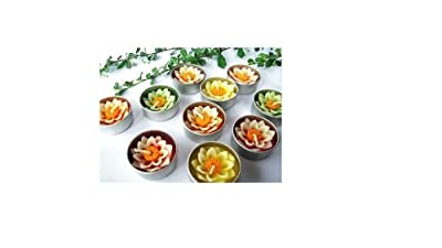 Relax spa shop® Lotus Flower Candle in Tea Lights, Floating Candles, Scented Tea Lights, Aromatherapy Relax (Pack of 10 Pcs.)no.1