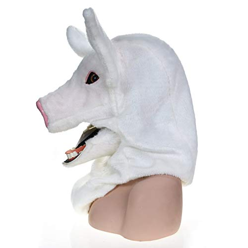 GERUIQI Fashion Innovative Cartoon Handmade Customized Party Moving Mouth Mask Spotted Pig Simulation Realistic Image Animal Mask Dress up Game Activity mask