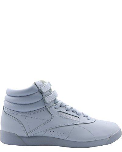 Reebok Women's Classic Freestyle Hi Color Bomb Sneaker, Gable Grey, 9 (Hi Sneaker Freestyle)