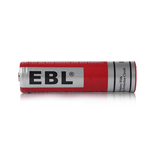 EBL 18650 Battery Lithium-ion 3000mAh 3.7V Low Self Discharge Rechargeable Batteries, 4 Counts